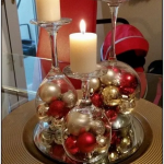 148+ Dollar Store Christmas Table Centerpieces - Wine Glass Candle Holders | cyn...