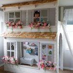 Layla's Dollhouse Loft Bed, Play Area Underneath. Options Include Bunk Bed Version, Storage Trundle, Slide & Stairs w/ Built-in Storage.