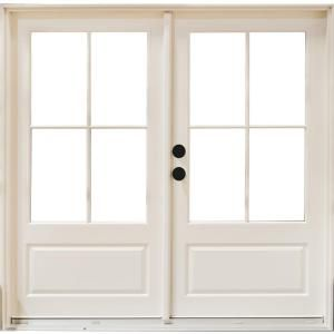 MP Doors 72 in. x 80 in. Fiberglass Smooth White Right-Hand Inswing Hinged 3/4-Lite Patio Door with 4-Lite SDL-HN6068R3QD3 – The Home Depot