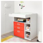STUVA / FRITIDS Changing table with drawers - white, red - IKEA