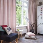 Pair of Pedal Pink Curtains, Linen blend pink drapery, Custom curtains, extra long, extra wide, nursery room curtains