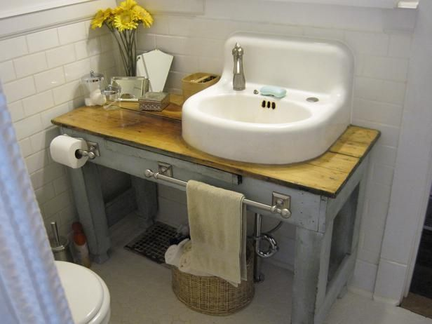 20 Upcycled and One-of-a-Kind Bathroom Vanities : Home Improvement : DIY Network…