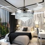 2019 Invisible Led Crystal Ceiling Fans With Lights Modern Bedroom Living Room Folding Ceiling Fan Remote Control Lamp Chandelier Ceiling Light  From Flymall, $592.97 | DHgate.Com