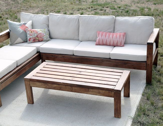2×4 outdoor coffee table (Ana White) – Outdoor Furniture Ideas