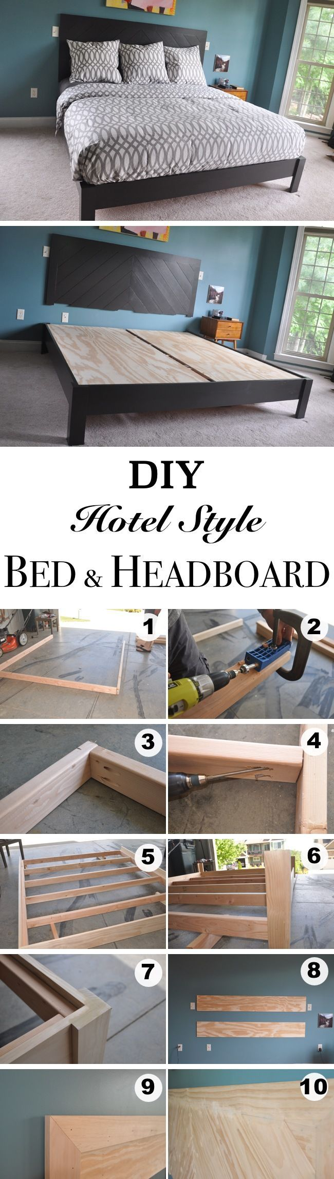 36 Easy DIY Bed Frame Projects to Upgrade Your Bedroom | Homelovr