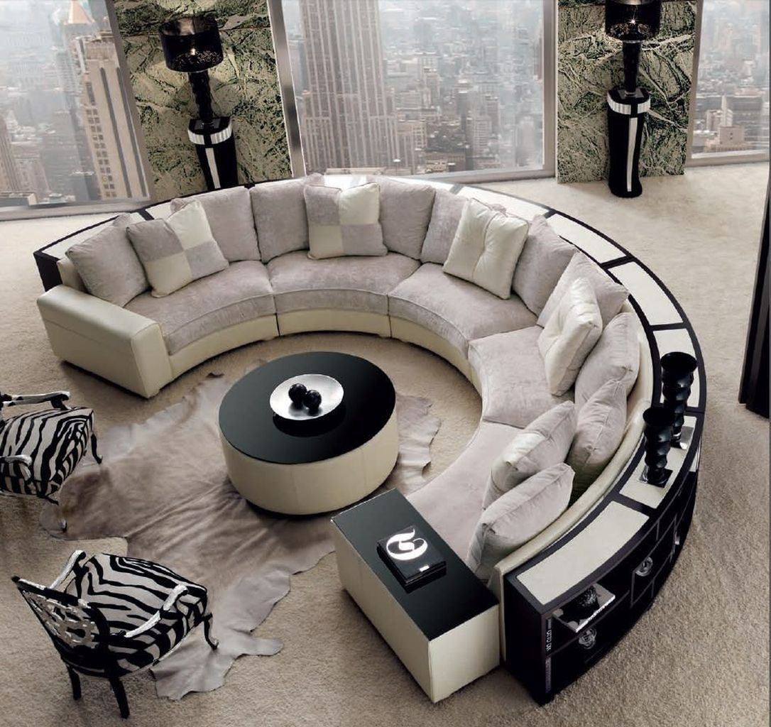 44 Cool Circular Sofa Designs Ideas For Living Room