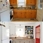 5 creative before and after the kitchen Makeovers on a budget