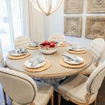50 Attractive Round Table Dining Room Fixer Upper Ideas #roundtabledecor Attract...