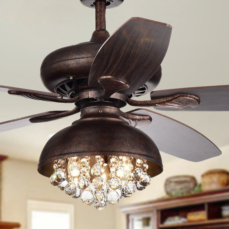 52″ Davidson 5 Blade Ceiling Fan with Remote, Light Kit Included
