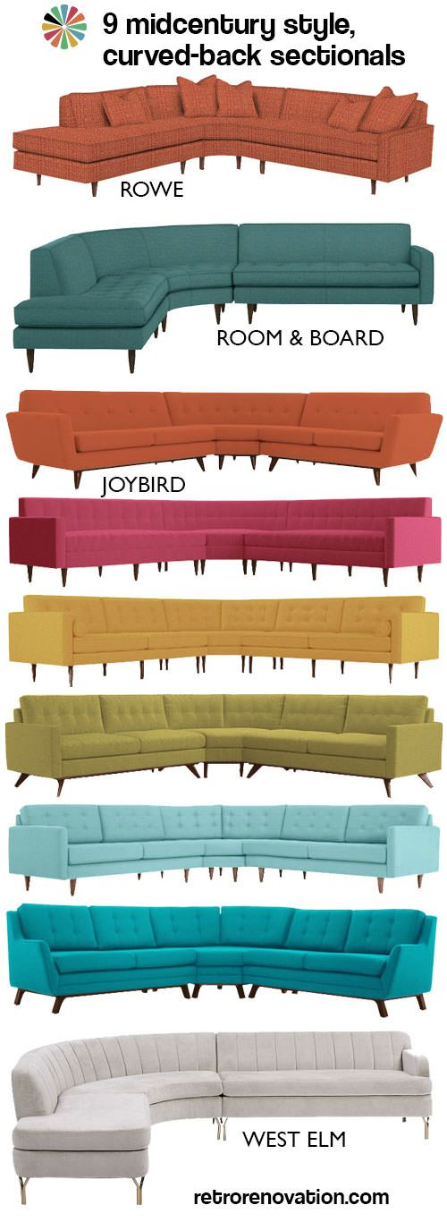 9 swanky curved sectionals in midcentury modern style – Retro Renovation