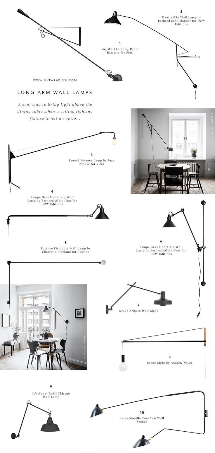 A cool way to light a dining room without a ceiling light