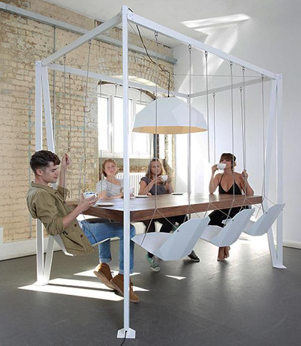 A swing set table for the coolest dinner parties ever. I'd probably build this f…