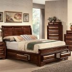 ACME Konane Queen Bed with Storage in Brown Cherry, Multiple Sizes - Walmart.com