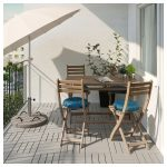 ASKHOLMEN Table and 4 chairs, outdoor - gray-brown stained - IKEA