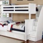 Allen House Chatham Twin over Full Bunk Bed with Stairs White