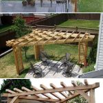 An angle pergola is compact and can be placed anywhere in the garden