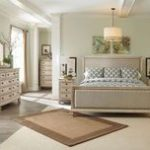 Ashley Demarlos Parchment White 7 Pc. Dresser, Mirror, California King UPH Panel Bed & 2 Nightstands