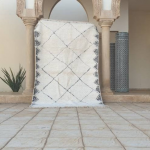 Authentic moroccan beni ourain rug , moroccan rug , beni ourain rug , berber rug , moroccan berber rug , area rug