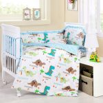 Baby Bedding Crib Cot Sets - 9 Piece Cute Dinosaurs Theme. RRP $150