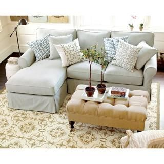 Baldwin 2-Piece Sectional with Left Arm Chaise Slipcover – Special Order Fabrics | Ballard Designs