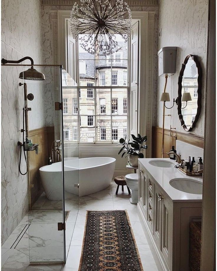Bathroom Inspiration via katie lamoureux.gentleman #bathroomlaundry Bathroom Ins…