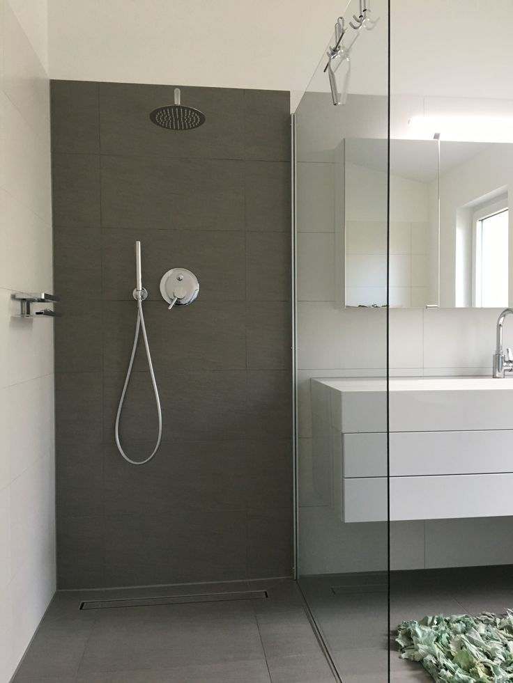 #Bathroom #Shower #Tile #Water connection behind the wall #Glaswand # 1m x 1 …