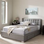Baxton Studio Rene Modern and Contemporary Fabric 4-drawer Storage Platform Bed, Multiple Sizes, Multiple Colors - Walmart.com