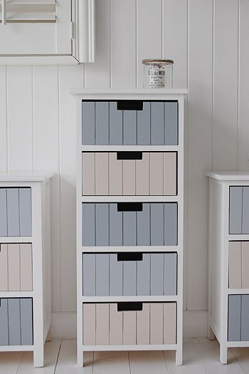 Beach bathroom tallboy storage free standing unit with 5 drawers photograph. Ide… | lifestylezz