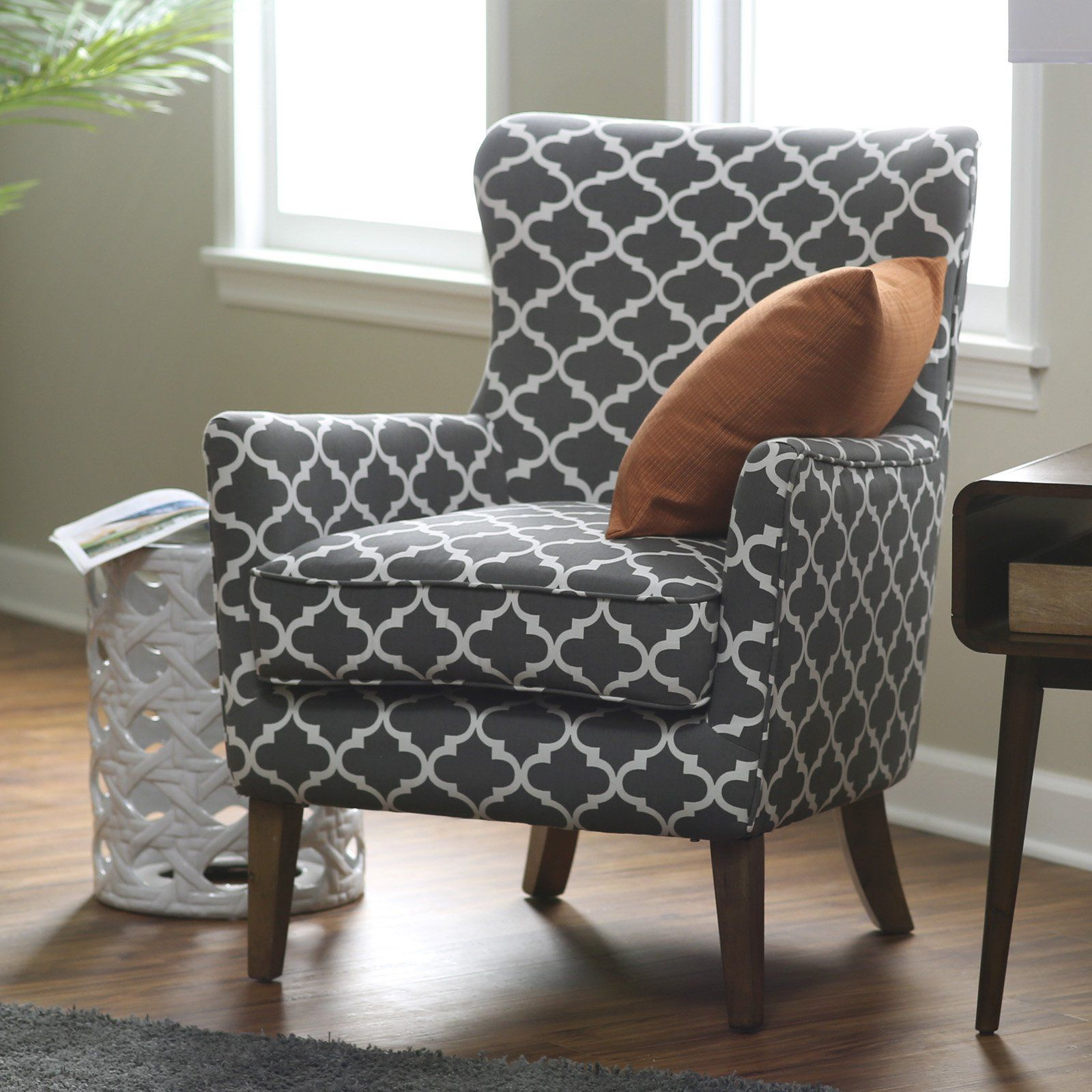 Belham Living Palmer Printed Arm Chair – A sophisticated choice for your tailore…