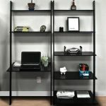 Best Choice Products 7-Shelf Leaning Bookcase and Computer Desk for Home and Ofice Furniture - Black - Walmart.com