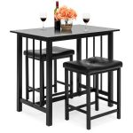 Best Choice Products Counter Height Dining Table Set w/ 2 Faux Leather Stools - Walmart.com