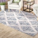 Billie Hand-Tufted Cotton Ivory/Blue Area Rug