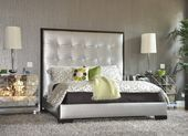 Blooming Gold Dresser Bedroom Contemporary with Nightstand Platform Bed Wallcove