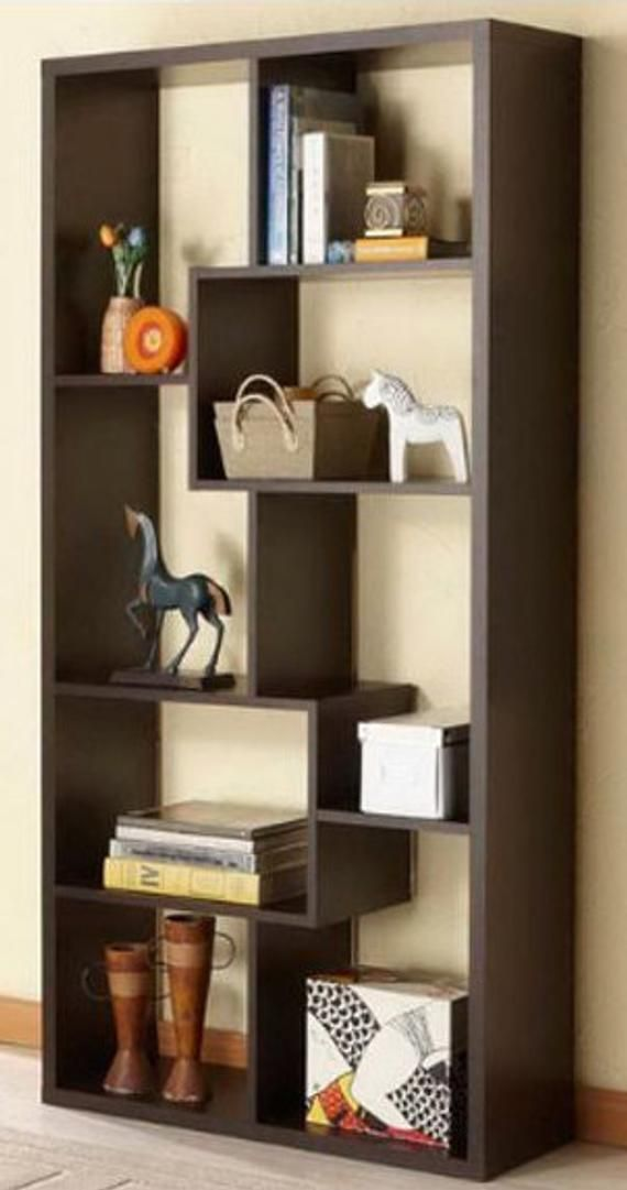 Bookcase or Room Divider Shadowbox Oak or Cherry or Walnut