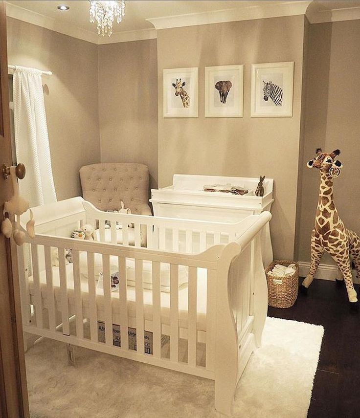 """Boori Europe on Instagram: """"A simple yet effective gender neutral nursery! How stunning are the animal prints? Perfect to complement our Boori Sleigh cot bed and…"""""""