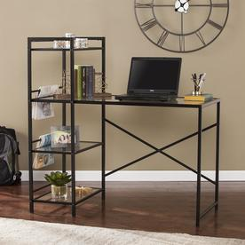 Boston Loft Furnishings Dyllen Contemporary Clear Writing Desk at Lowes.com