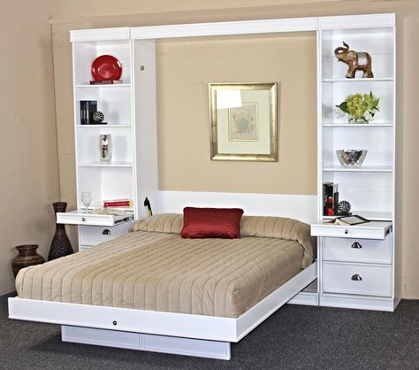 Bristol Birch Vertical Wall Bed w/Table by Wallbeds