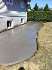 Broom Finished Concrete Patio in London Ontario
