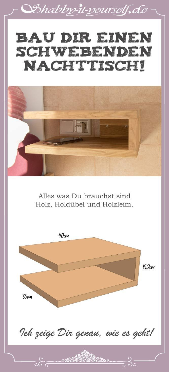 Build a Floating Bedside Table – That's how it's done! –