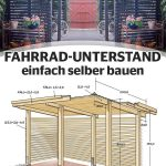 Build a bike shelter yourself: Free instructions