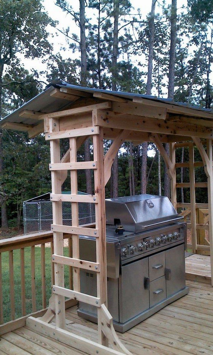 Build a grill gazebo for your backyard!   DIY projects for everyone!