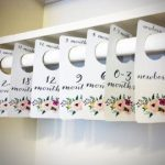 COMBO PACK: Floral Printable Baby Nursery Closet Dividers, Drawer Labels & Baby Monthly Milestone Cards - print yourself