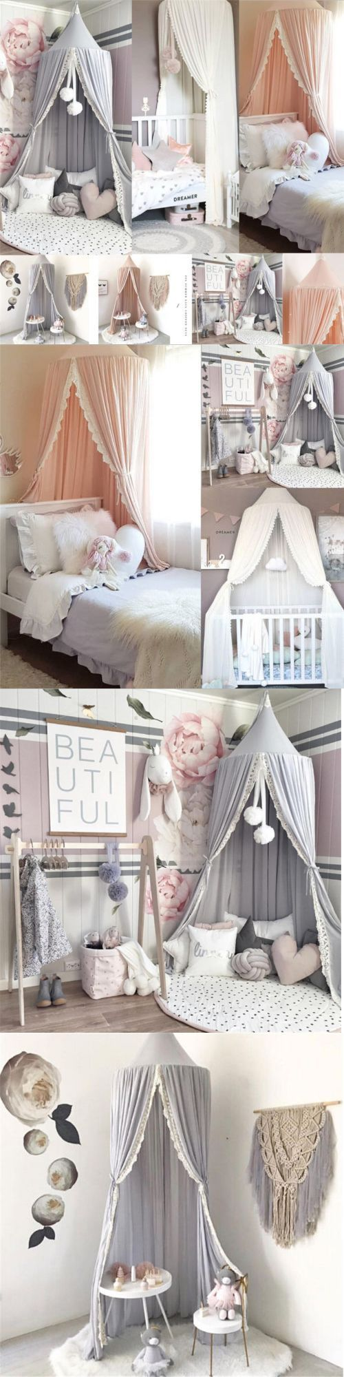 Canopies and Netting 48090: Child Baby Bed Canopy Netting Bedcover Mosquito Net …,  #baby #…