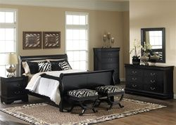 Carrington Sleigh Bed 6 Piece Bedroom Set in Black Finish by Liberty Furniture – 907-BR