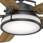 Casablanca Caneel Bay 56 in. Indoor/Outdoor Aged Steel Ceiling Fan with Light Kit-59113 - The Home Depot