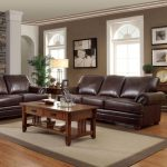 Coaster 2 Piece Colton Brown Traditional Sofa and Loveseat