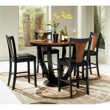 Coaster Boyer 5 Piece Counter Height Dining Set in Black and Cherry – Walmart.com