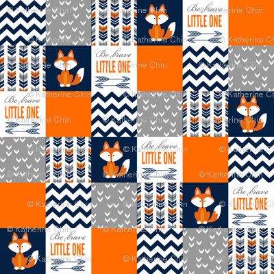 Colorful fabrics digitally printed by Spoonflower – Fox Patchwork Blanket
