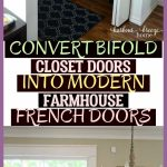 Convert Bi-Fold Closet Doors Into Modern Farmhouse French Doors * #farmhousekitc...