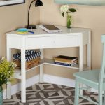 Corner Writing Desk with Pullout Drawer and Shelf, Multiple Finishes - Walmart.com